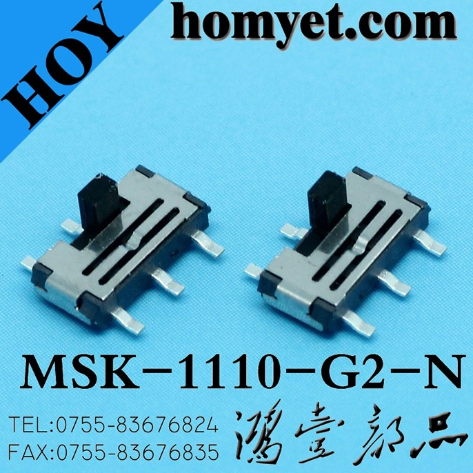 Vertical Type 6pin SMD Slide Switch for Digital Products (MSK-1110-G15-N) pictures & photos