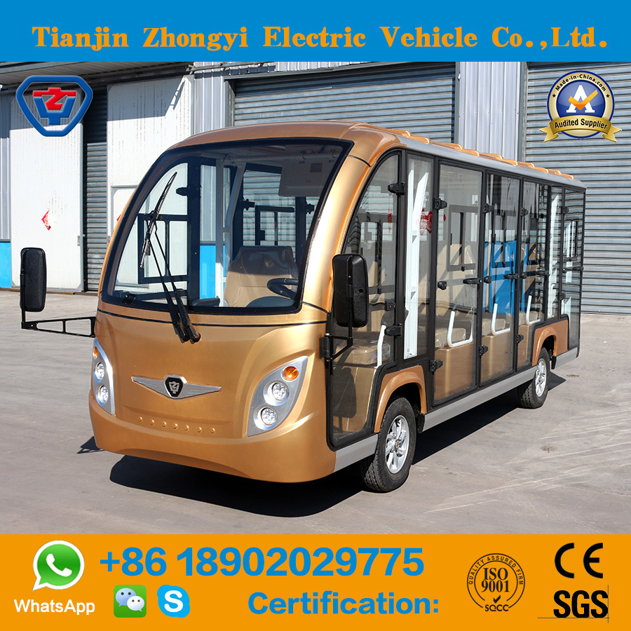 China Hot Selling 14 Seats Electric Sightseeing Car With Ce