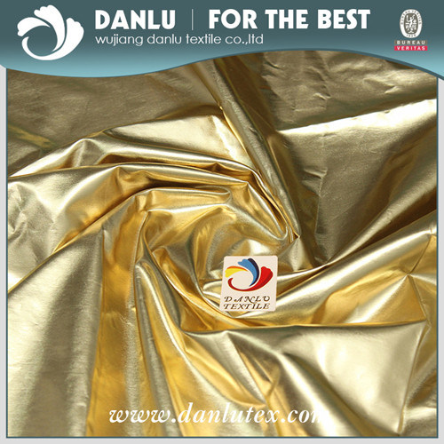 Environmental Silver and Gold Coated Fabric of Polyester Pongee pictures & photos