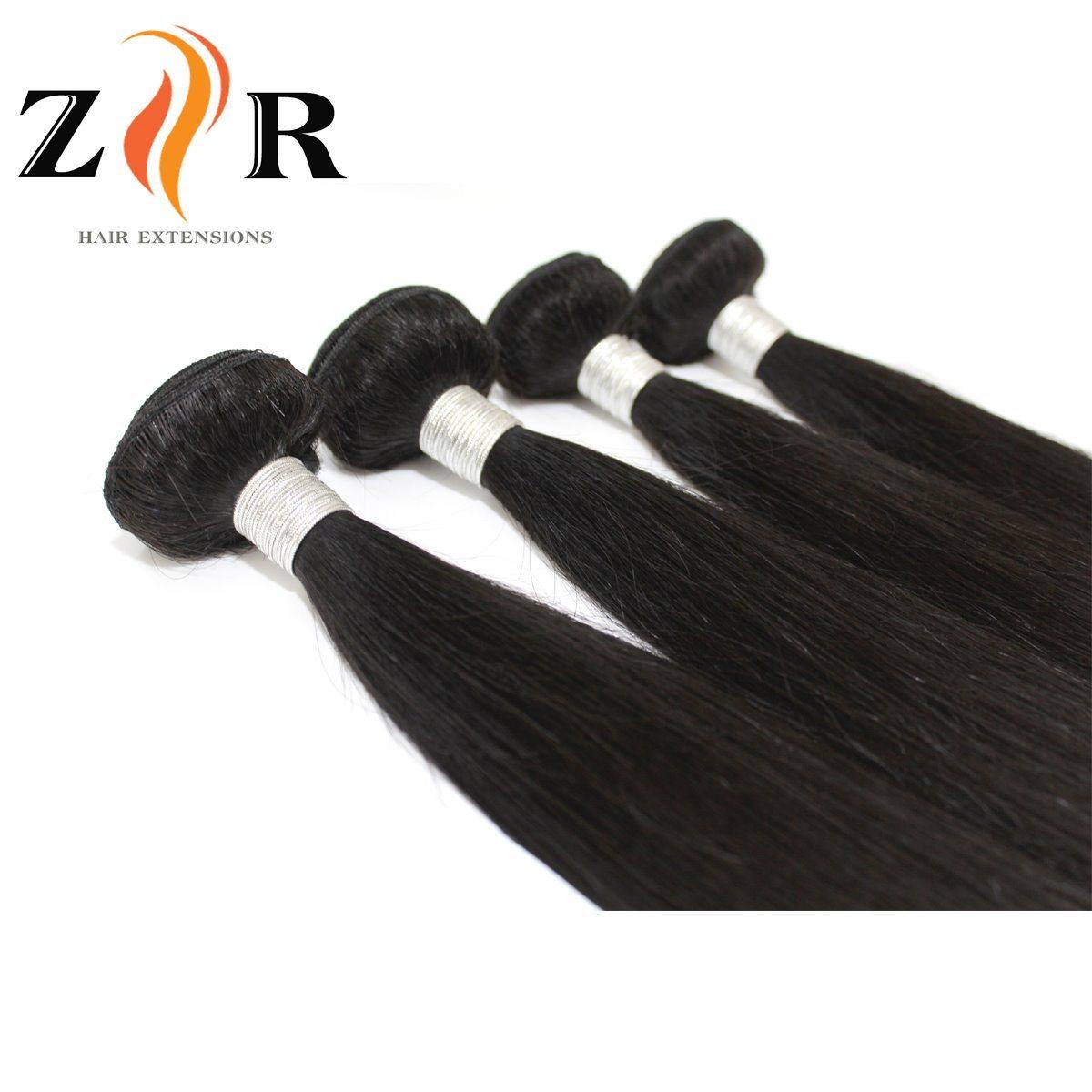 China Long Human Hair Extensions Can Dye Natural Black Virgin Hair
