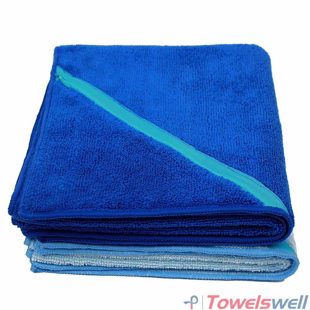 China Microfiber Terry Sports Towel With Zipper Pocket Gym Golf Standard