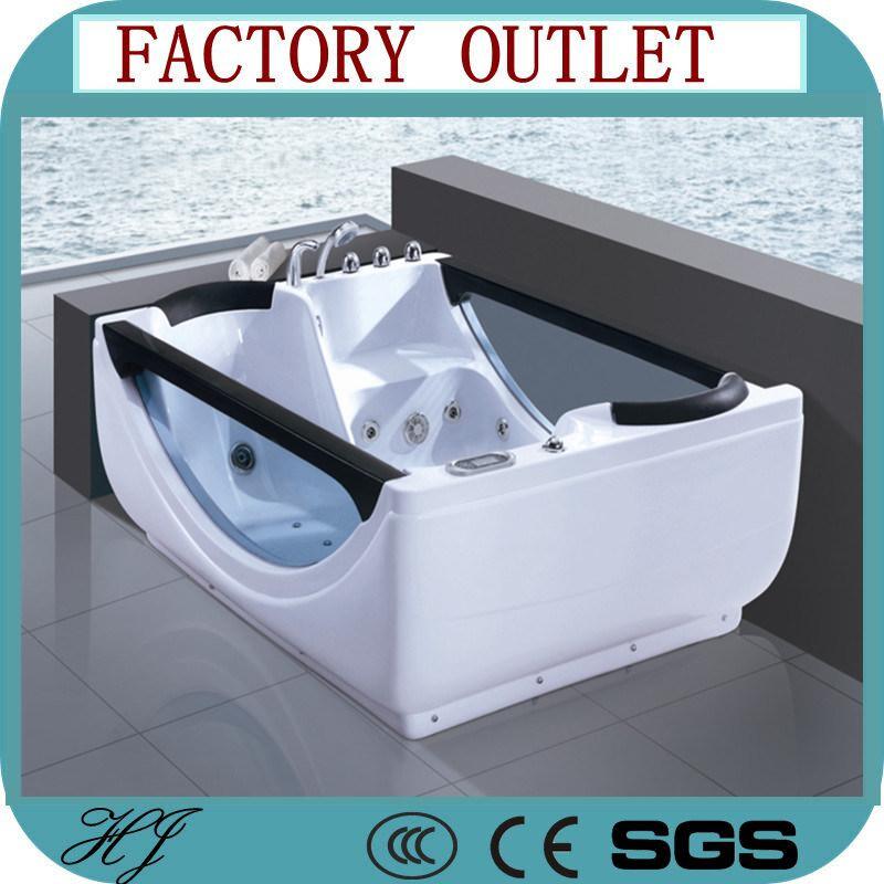 China Glass Freestanding Hydro Massage Indoor Acrylic Whirlpool ...