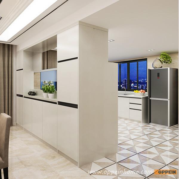 China Oppein Modern High Quality PVC Modular Wood Kitchen