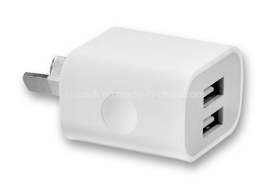 Portable Dual USB Wall Charger Travel Adapter Au Plug Phone Charger pictures & photos