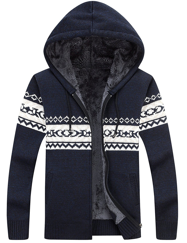 5c795c339 China Xiaolv88 Men′s Casual Slim Fit Full Zip up Sherpa Lined Hoodie  Cardigan Sweaters - China Men′s Hoody, Coat