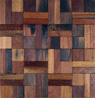 Old Boat Mosaic Tiles Wood Wall Decor