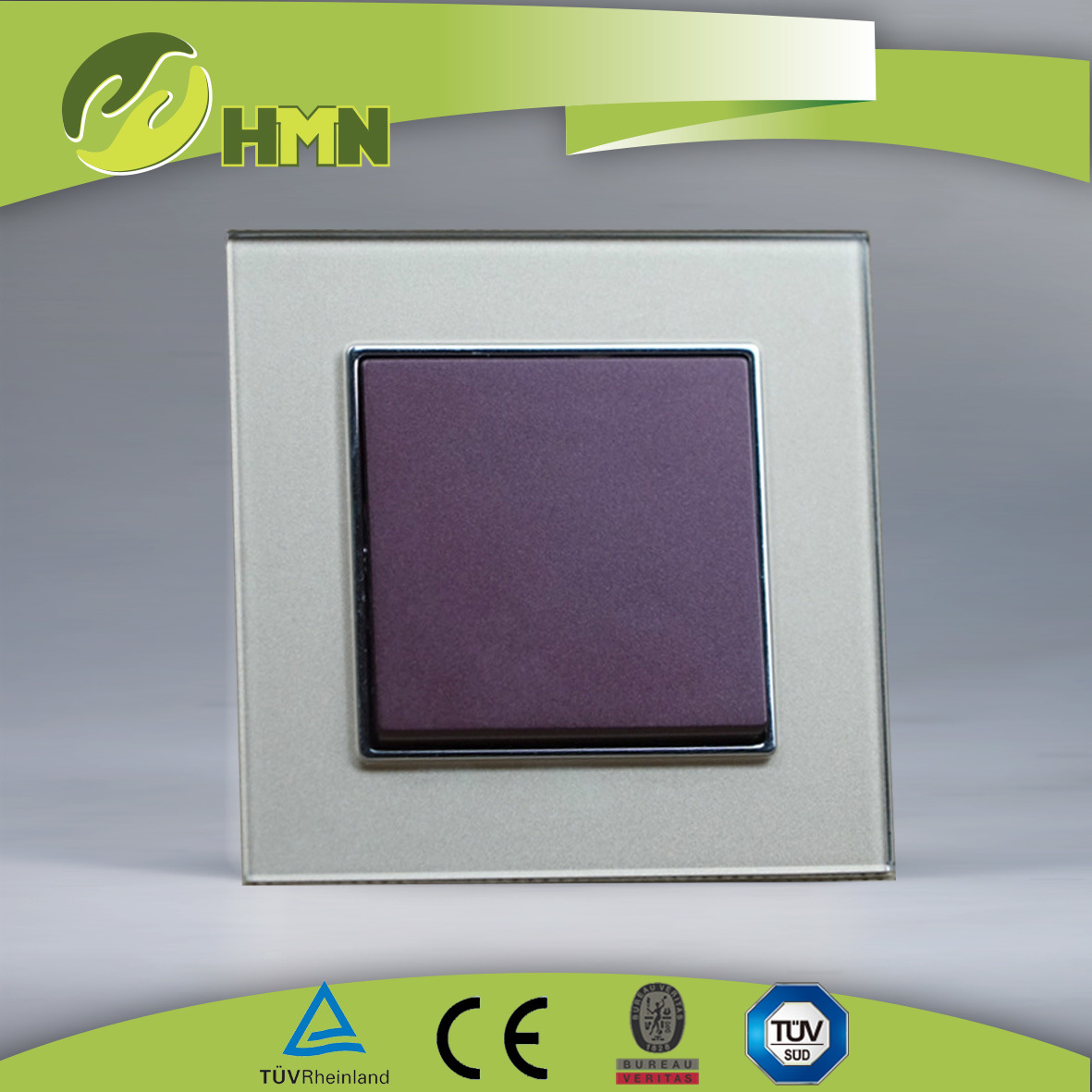 Ce/TUV/CB Certified European Standard Toughened Glass Wall Switch pictures & photos