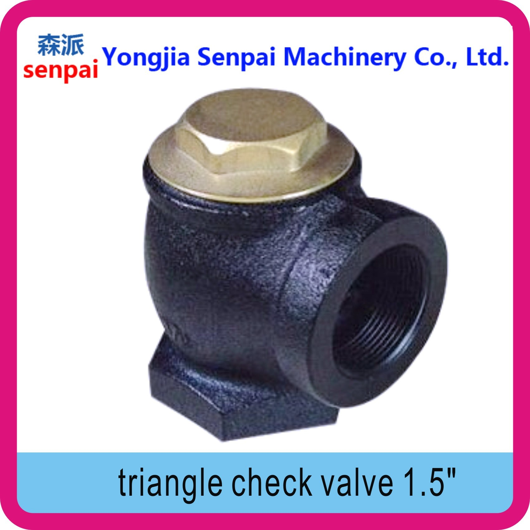 Gas Station Product Triangle Check Valve Angle Check Valve