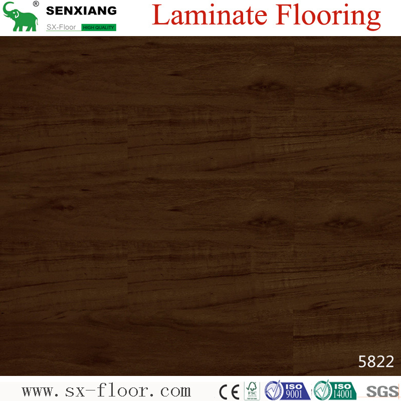 China Walnut Wood Texture High Gloss Eco Friendly Hdf Laminated Flooring Laminate