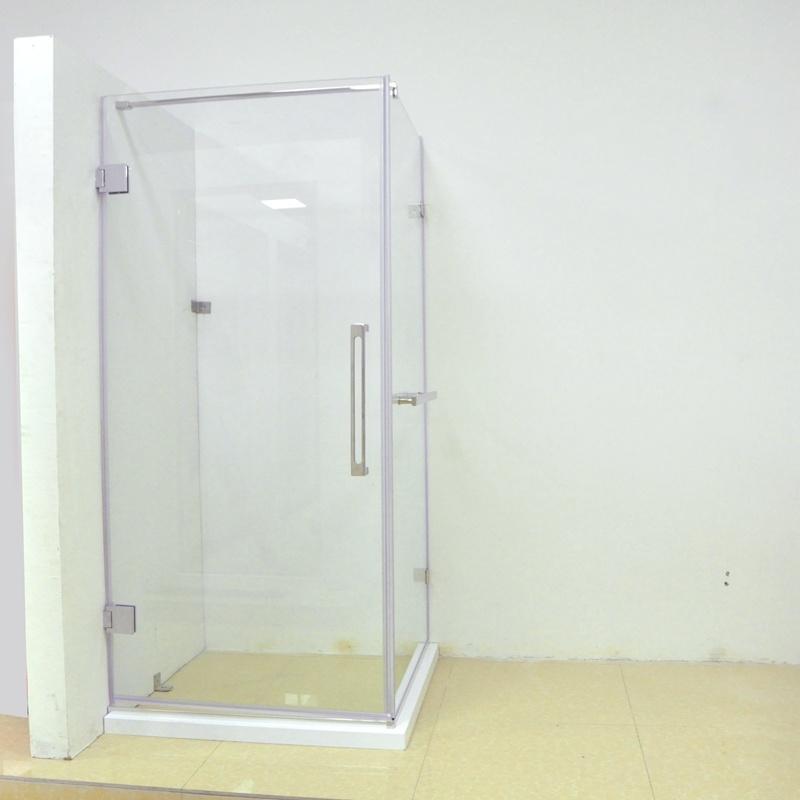 China a Single Swing Shower Door Frameless Reversible Corner Entry ...