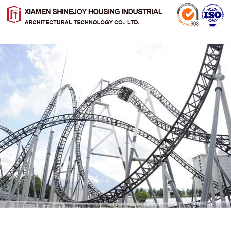 China Big Roller Coaster Outdoor Playground Steel Structure Design China Game Machine And Geared Motor Price