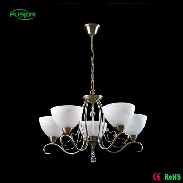 Home Decoration Classic Style White Glass Chandelier