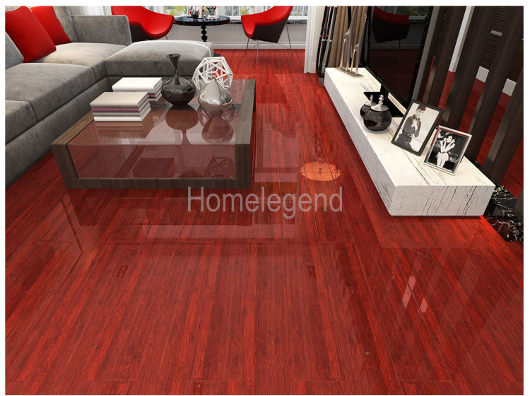China Red Color Hdf Core Carbonized Strand Woven Bamboo Engineered