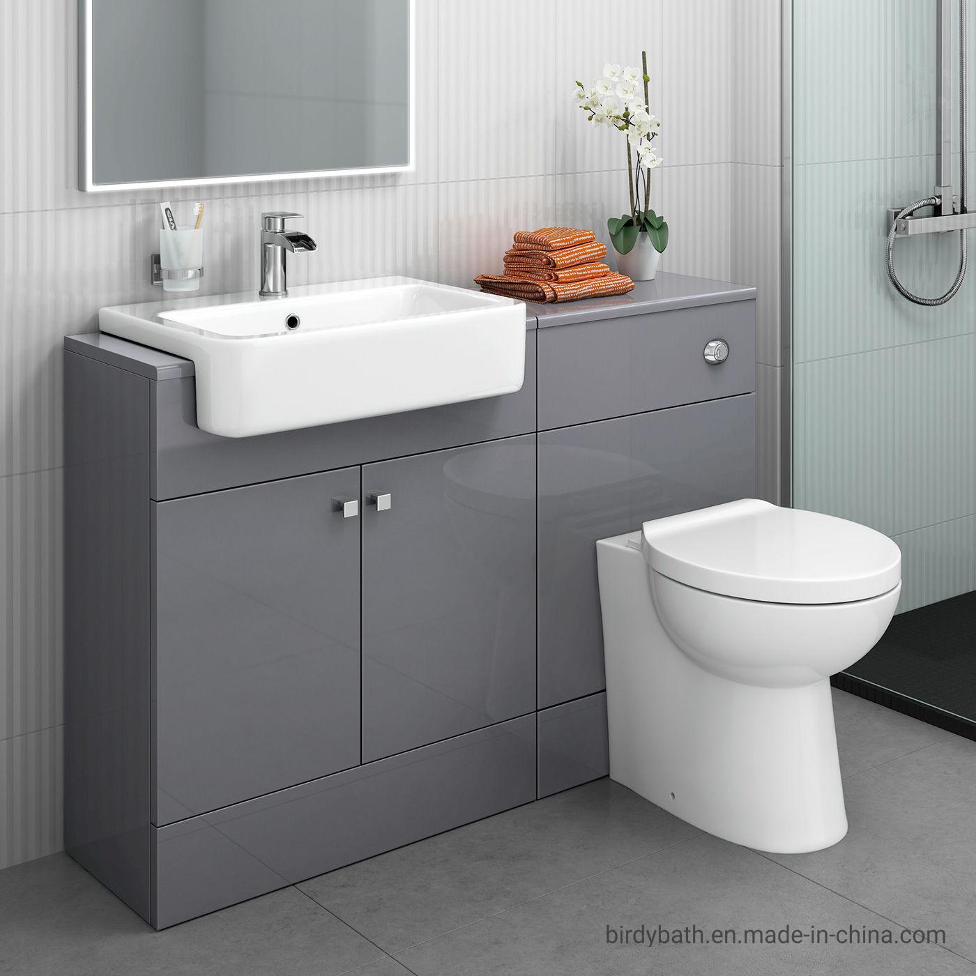China Bathroom Toilet And Furniture Storage Vanity Unit Sink Basin Grey 1167mm China Bathroom Vanity Unit Bathroom Furniture