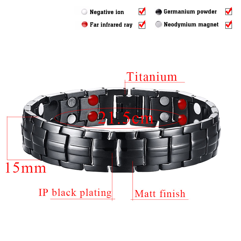 Black Gun Plated Titanium Bracelets for Man with Double Row pictures & photos