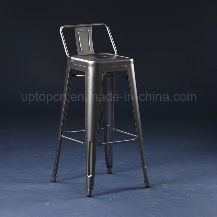 Astounding Hot Item Hot Sale Customizable Color Industrial Tolix Metal High Bar Stool With Backrest Sp Mc042 Pabps2019 Chair Design Images Pabps2019Com
