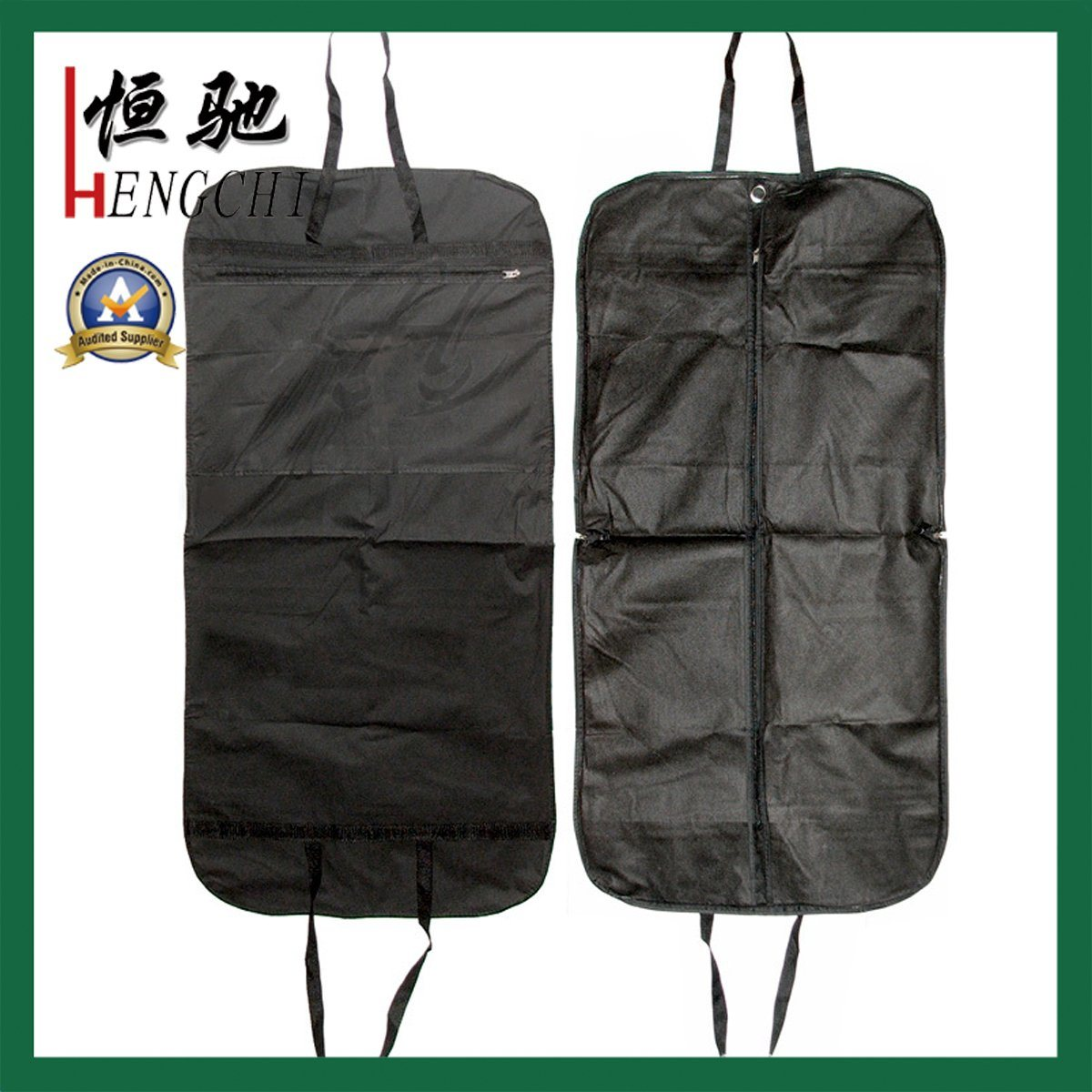 Custom PEVA Clothes Cover Suit Garment Bag with Transparent Window pictures & photos