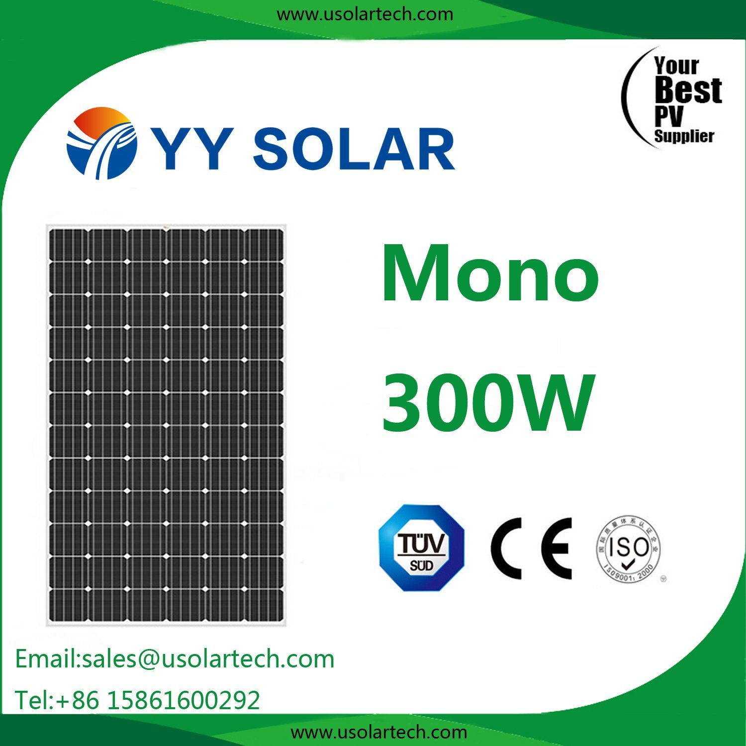 100W 150W 200W 250W 300W 330W Photovoltaic Panel, Efficient Solar Module