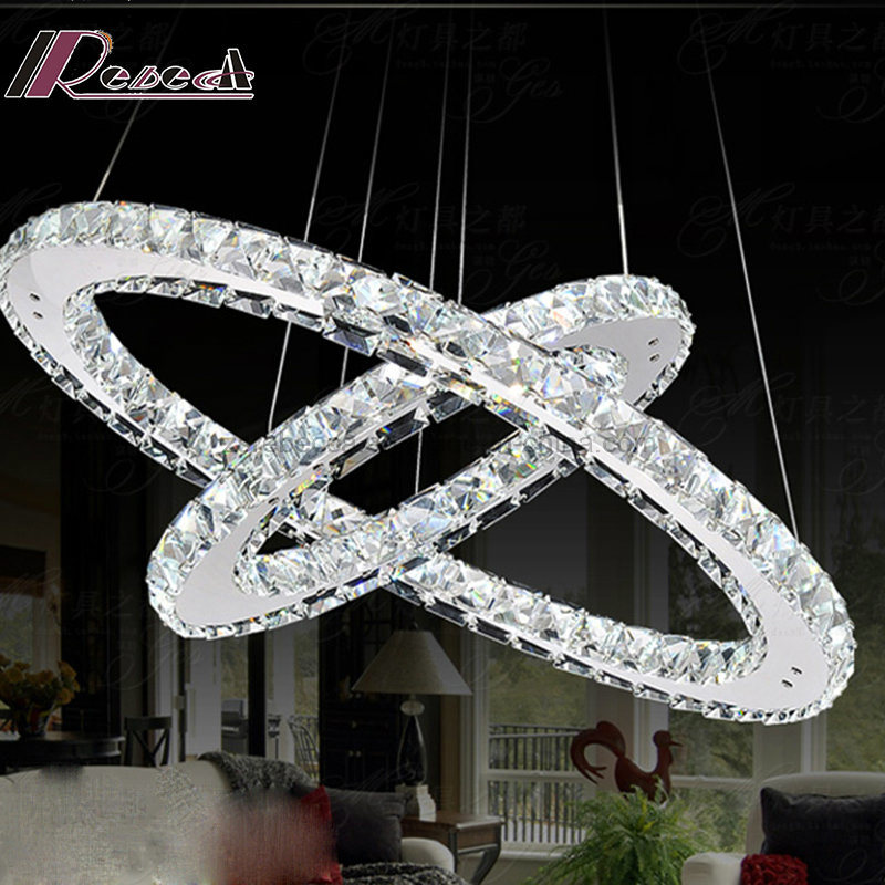 Modern Two Round Luxury Crystal Chandelier Pendant Light for Hotel pictures & photos