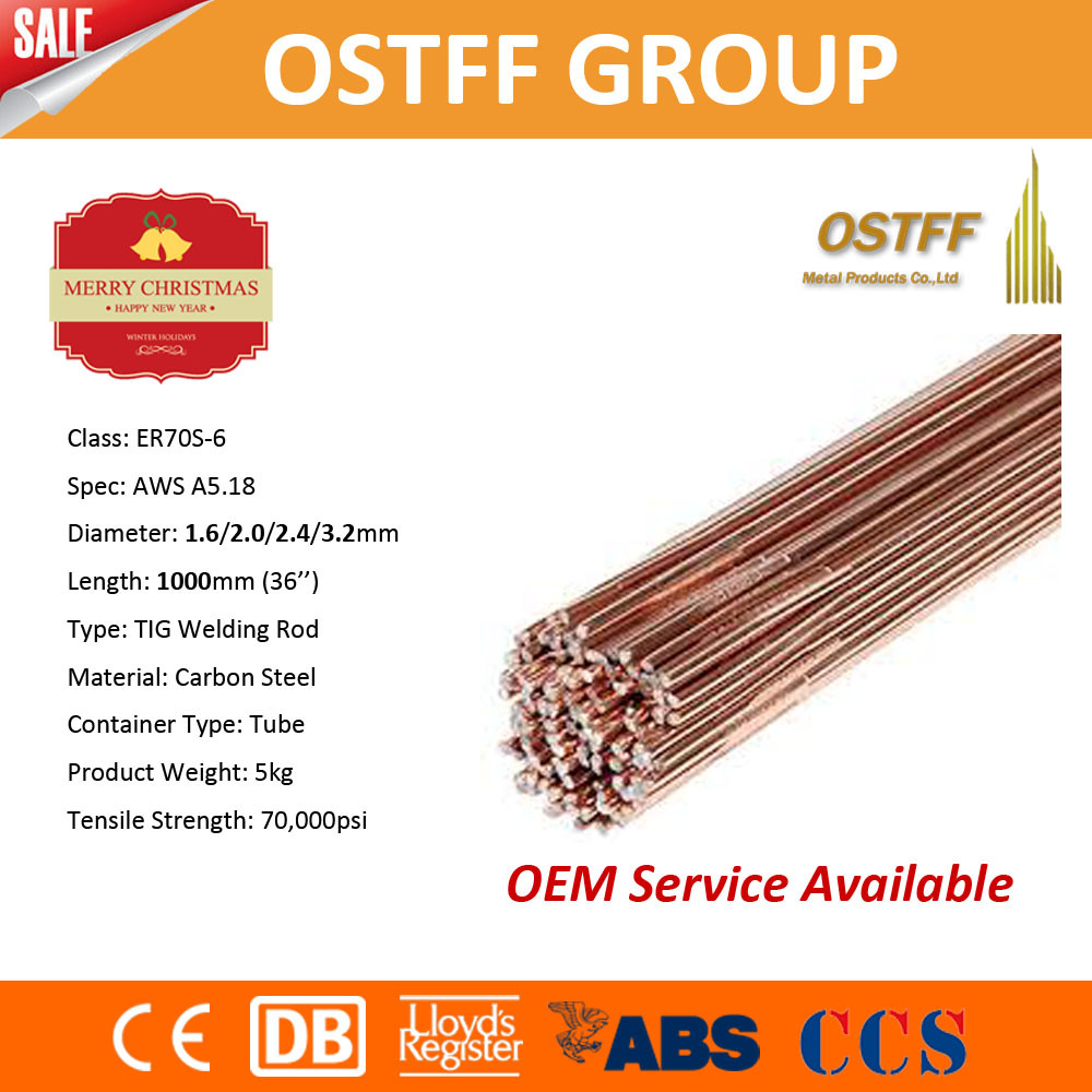 China Mild Steel Welding Alloy Er70s-6 (GTAW) TIG Welding Wire ...