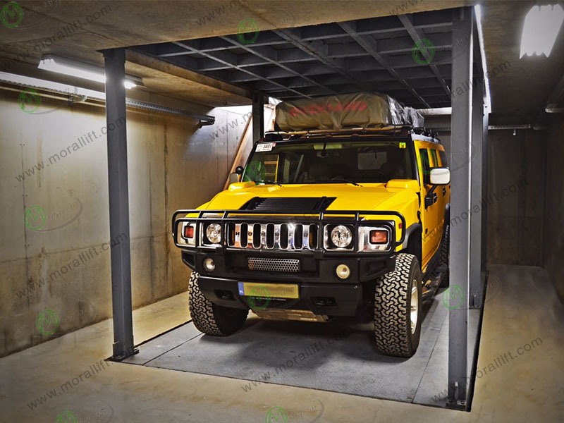 China Basement Storage Cars Underground Garage Lift