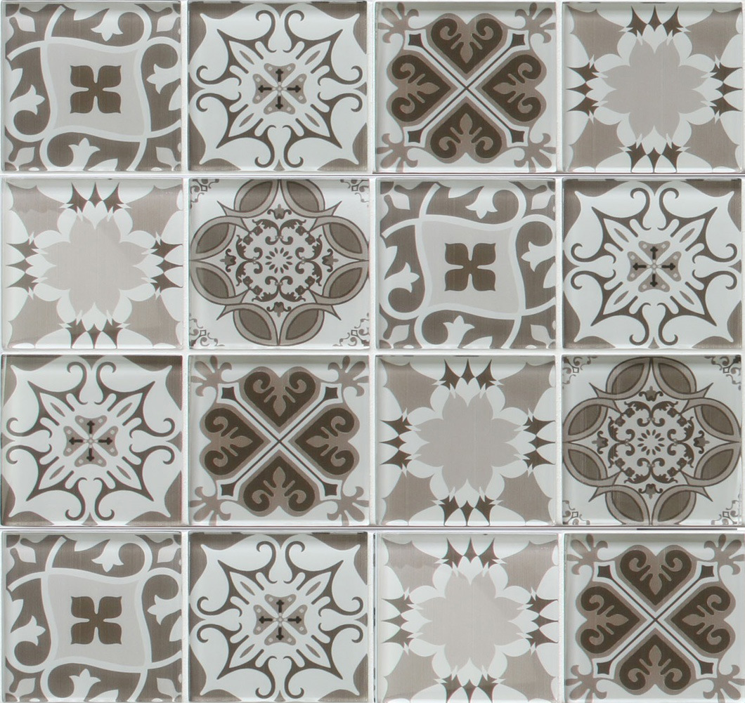 New Glazed Inkjet Printing Kitchen Backsplash Wall Glass Mosaic Tile China Building Material Decoration Material Made In China Com