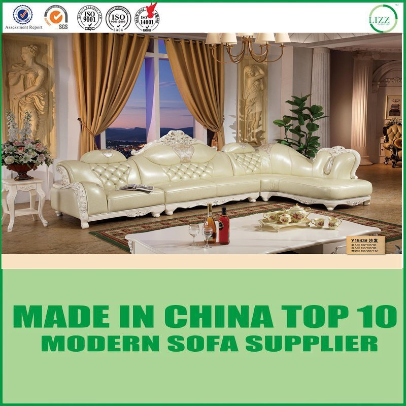 Chinese Luxury Italian Leather Living Room Furniture - China Sofa ...