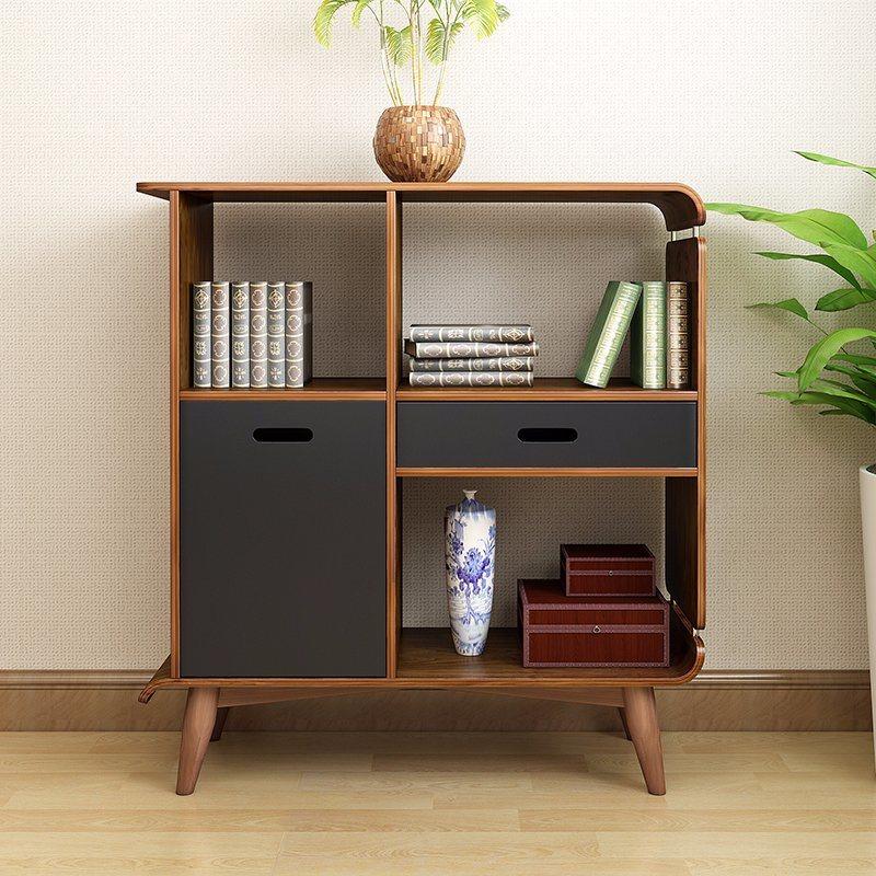 Antique Wooden Office Storage Cabinet