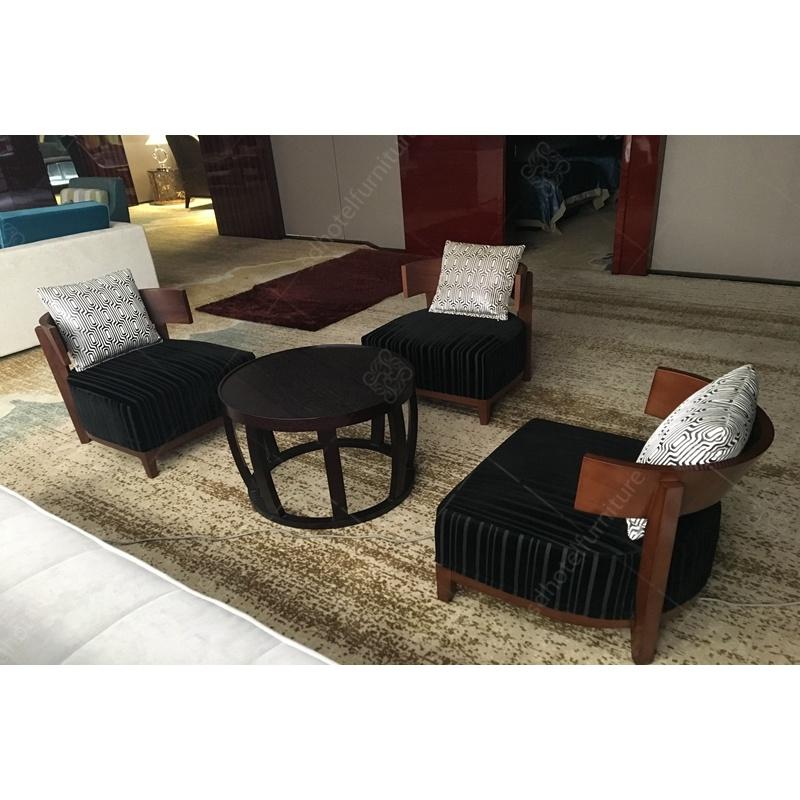 High Density Foam Fabric Lounge Chair