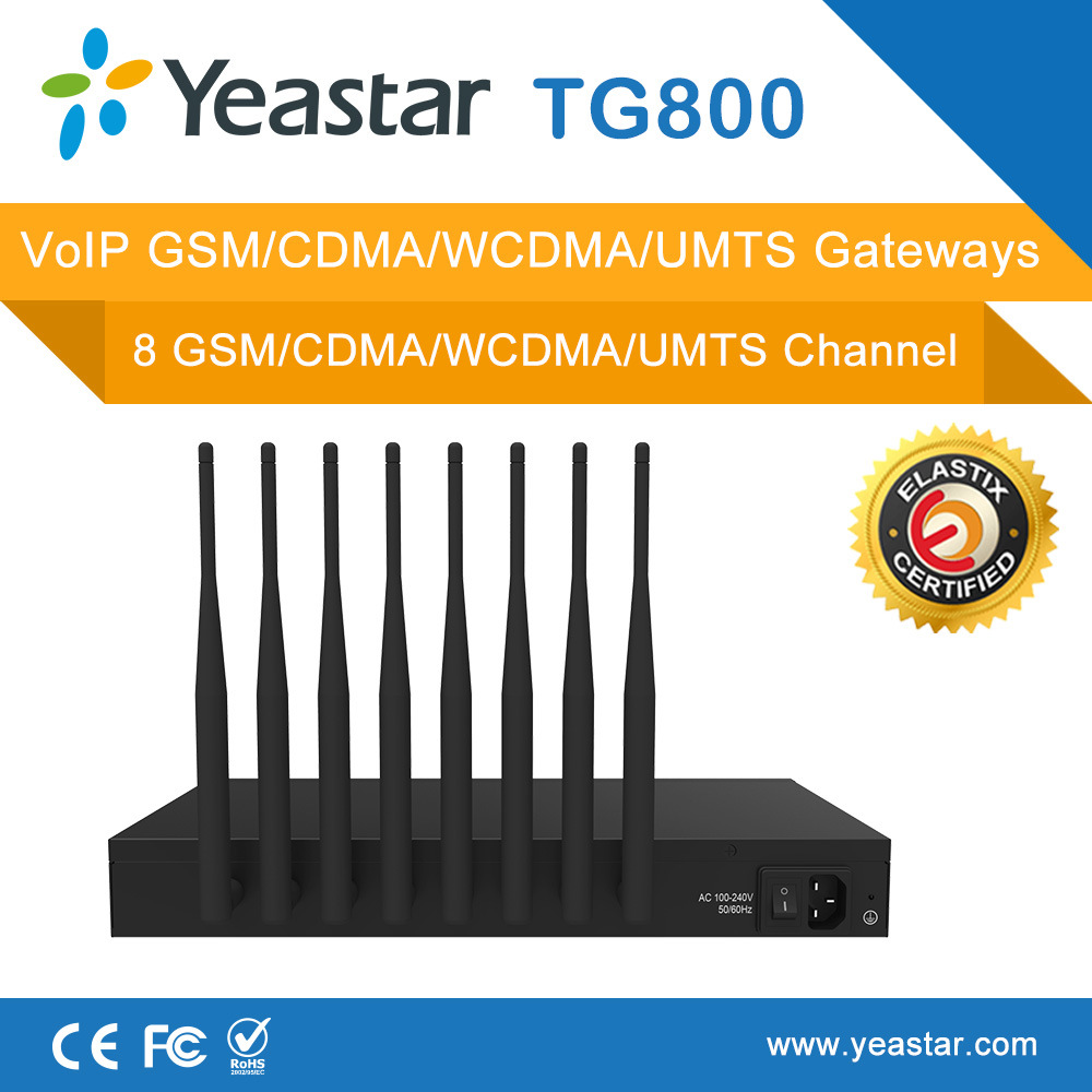 China Yeastar Neogate Tg800 with 8 GSM Channles VoIP GSM Gateway