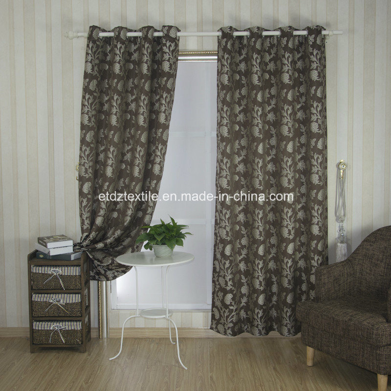 Top Trend Jacquard Flower Window Curtain pictures & photos