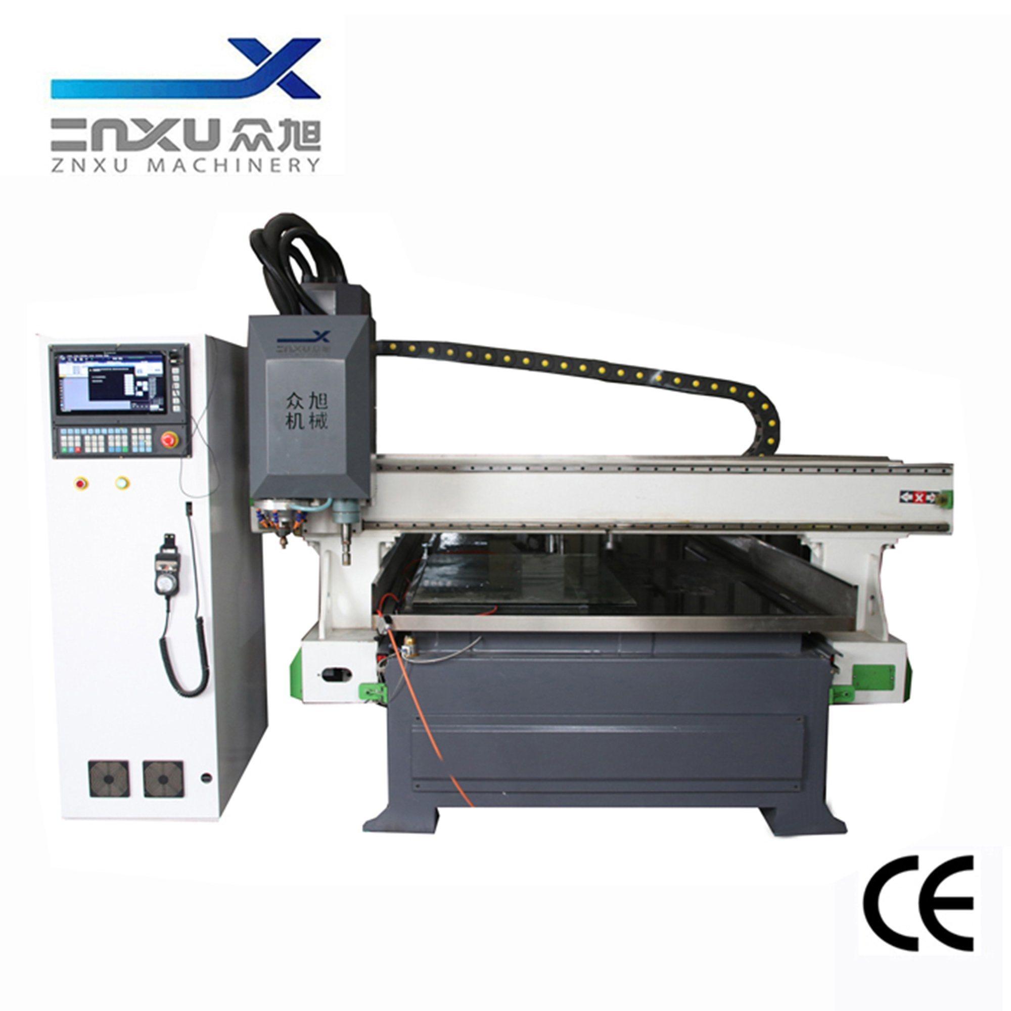 China Zxx 1325b Cnc Glass Notching Machine For Glass Door Clamp