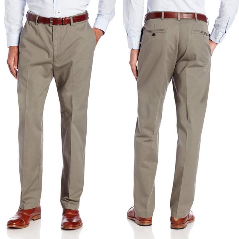 [Hot Item] Custom Men′s Khaki Capri Leisure Cotton Trousers