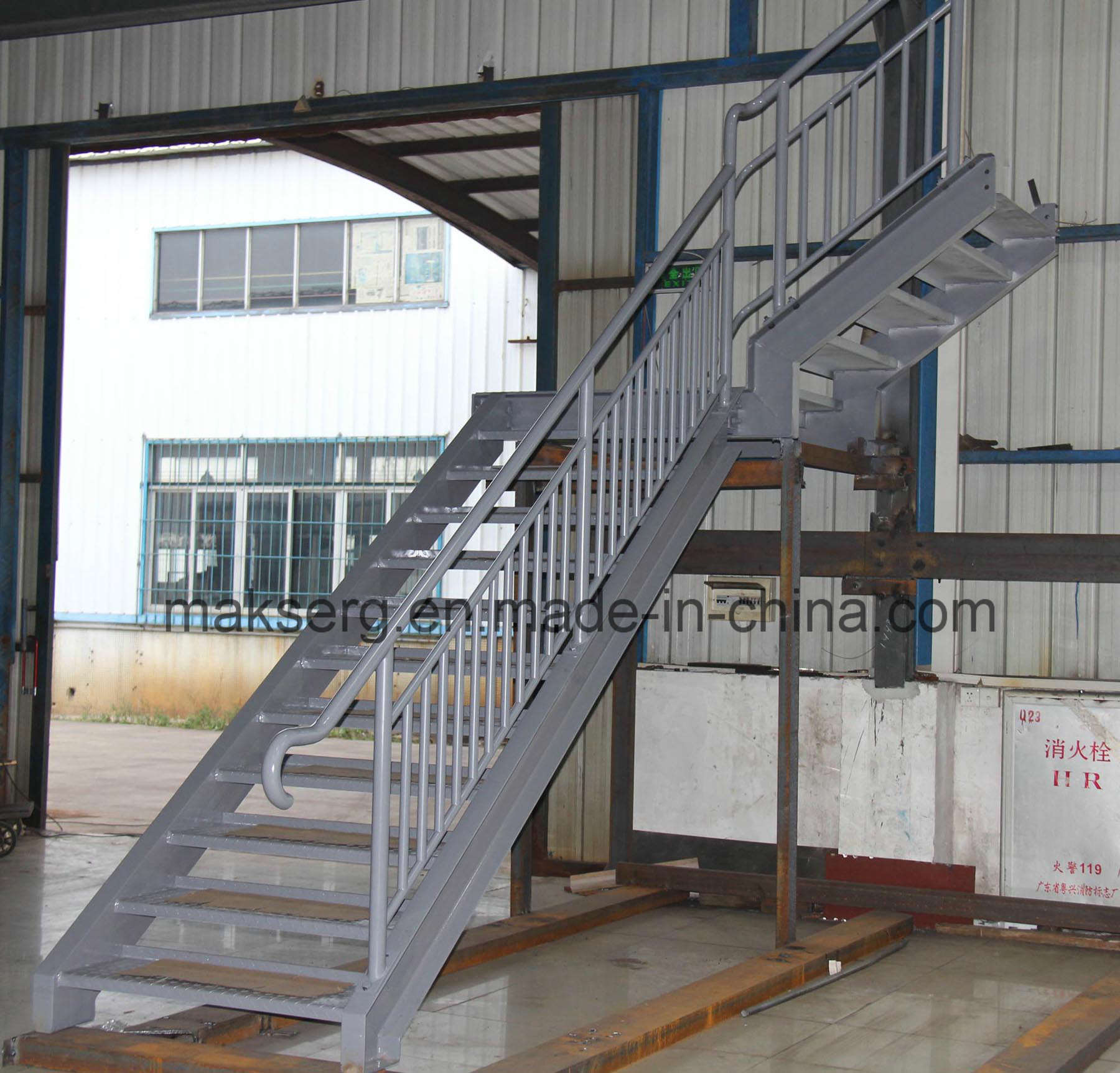 Galvanized Steel Stairs with Handrails