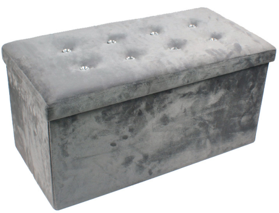 Wondrous Hot Item Faux Suede Large Folding Storage Box With Bling Diamond In Grey Bralicious Painted Fabric Chair Ideas Braliciousco