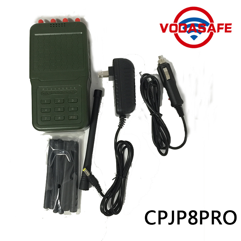 High Output Power  Handheld 8 Antennas Cell Phone Jammer, Professional High Quality Signal Jammer with Battery pictures & photos