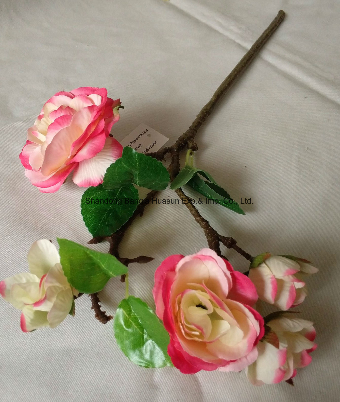 China Artificial Silk Flower 5 Heads Roses China Artificial Flower