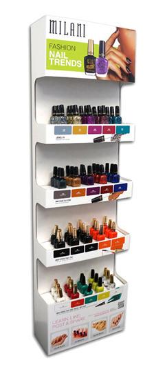 China Custom Cosmetic Store POS Cardboard Nail Polish Display Stand, Sidekick Pop Display, Nail Polish Color Display - China Nail Polish Display Stand, ...
