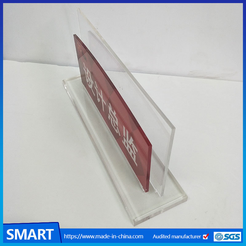 Custom Made Business Card Holder Acrylic Sign Holders For Desk Stand