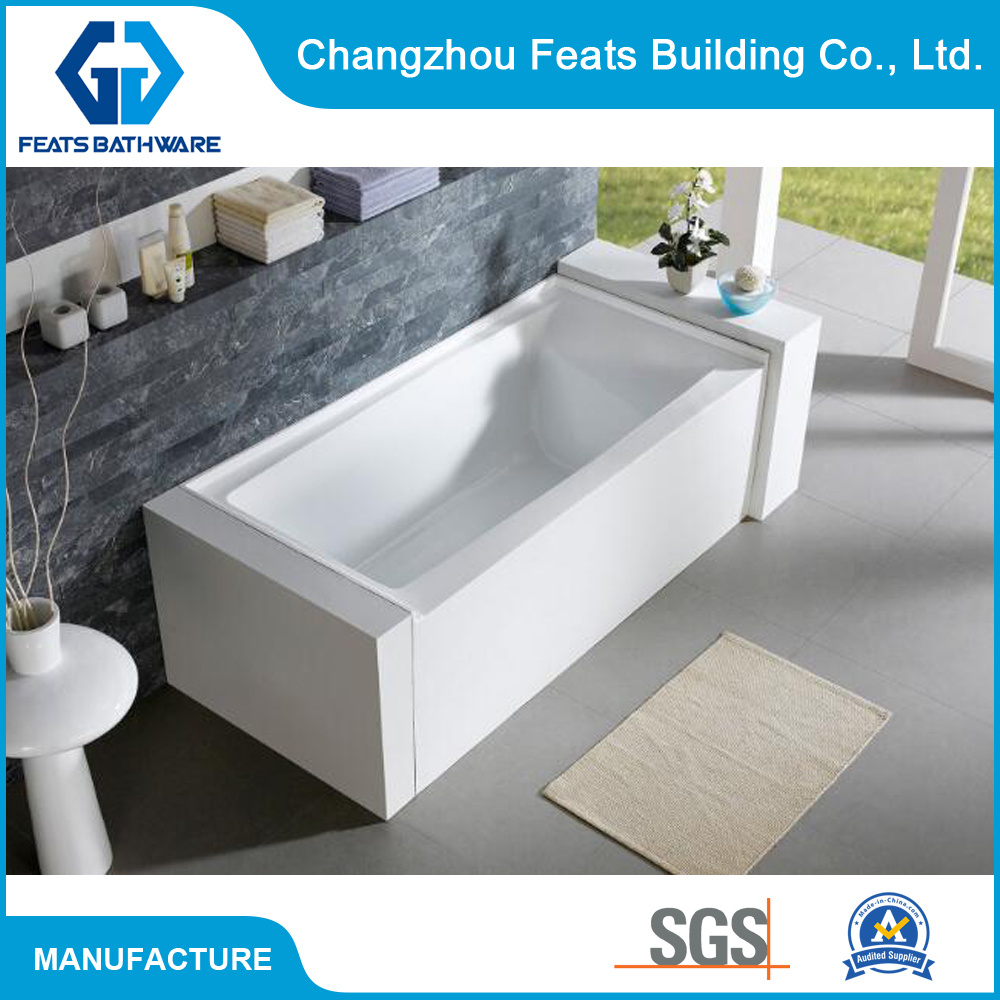 China Upc Standard Cheap Bath Tubs with 3-Wall Alcove Apron Bathtubs ...