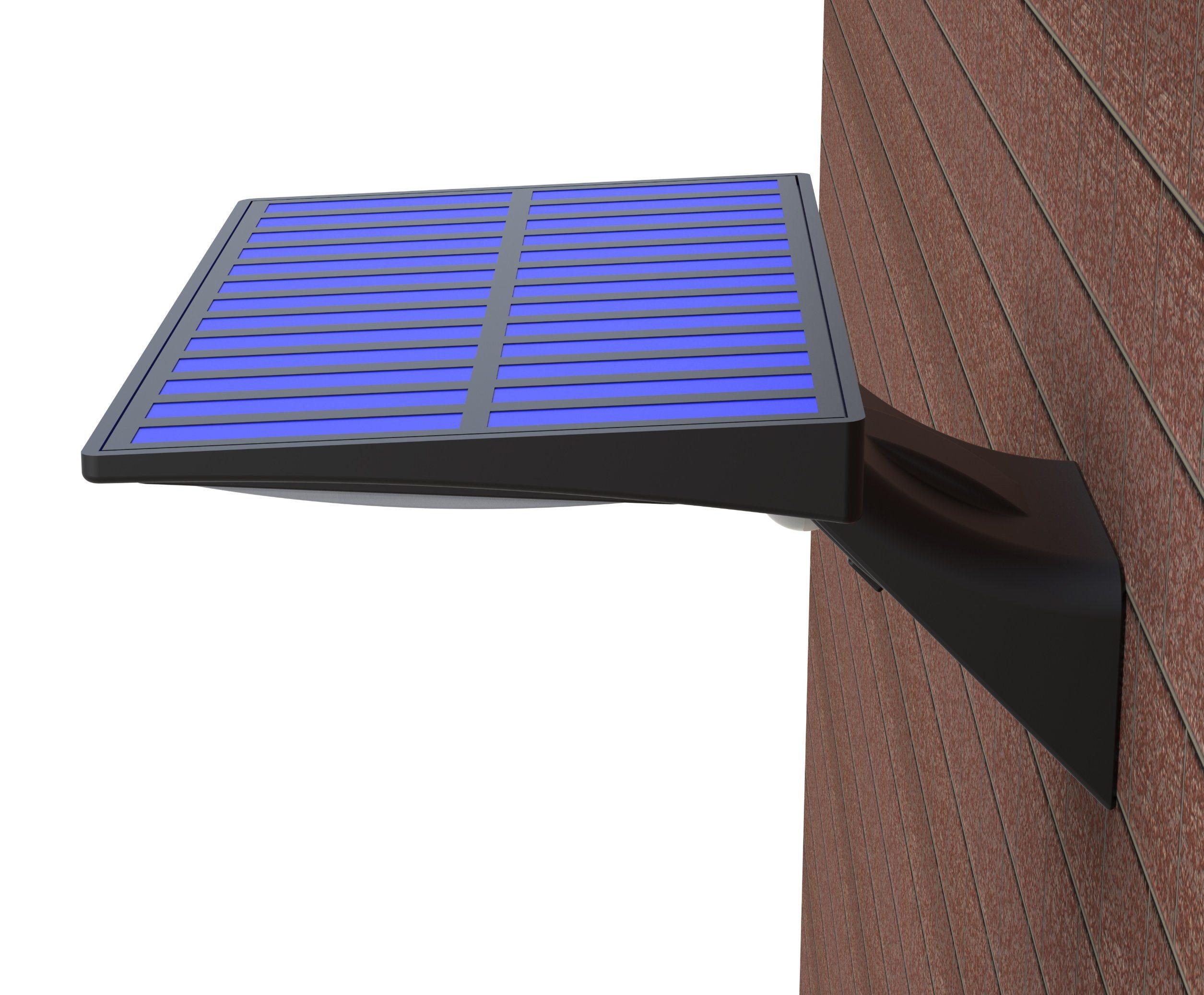 2 x SOLAR LED WALL FENCE STEP LIGHTS STAIR DOOR OUTDOOR DECKING GARDEN PATHWAY