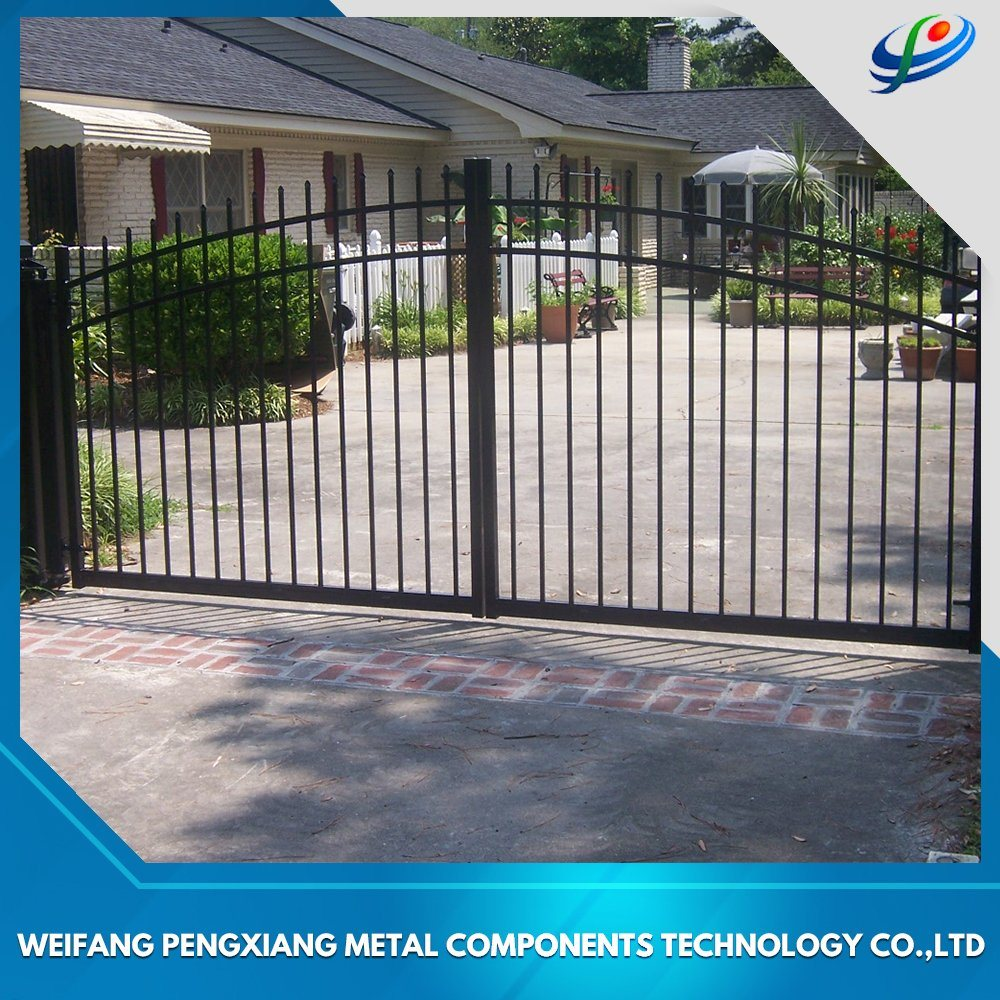 Hot Item Aluminum Wrought Iron Main Gate Design Swing Driveway Automatic Sliding For House School Factory Swimming