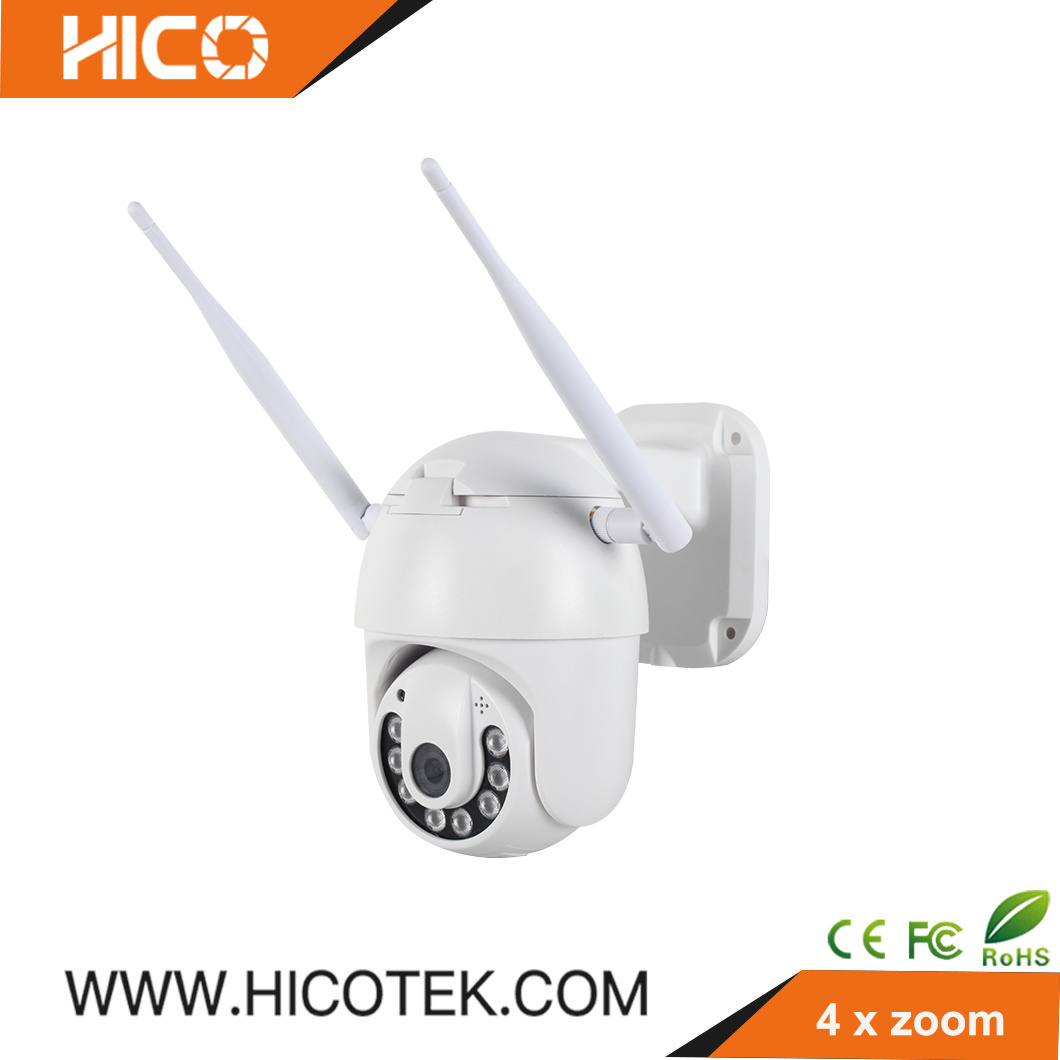 HD 1080P POE IP PTZ Camera Onvif Security Smart 4X Zoom Infrared Waterproof Mini