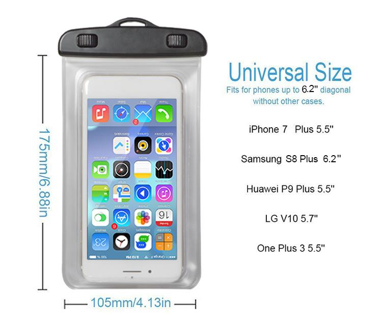 new concept 65110 d98f0 [Hot Item] Luminous Ipx8 Sealed Waterproof Phone Case for Samsung Galaxy S8  J7 J5 J3 J2 J1