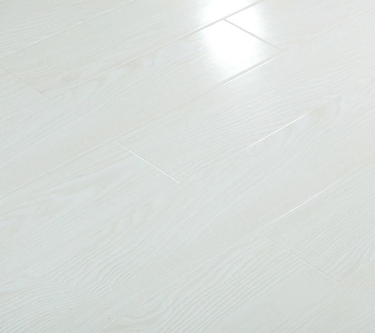 China Super White Modern Polished High, White Gloss Laminate Flooring