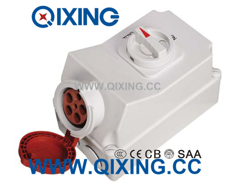 32A 3p Electric Waterproof Interlocked Receptacle Switch pictures & photos