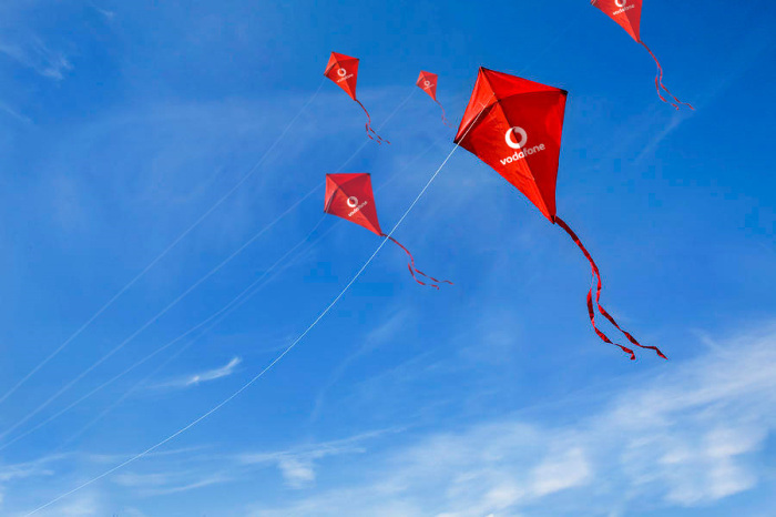 Cheap Vodafone Promotional Gift Kite