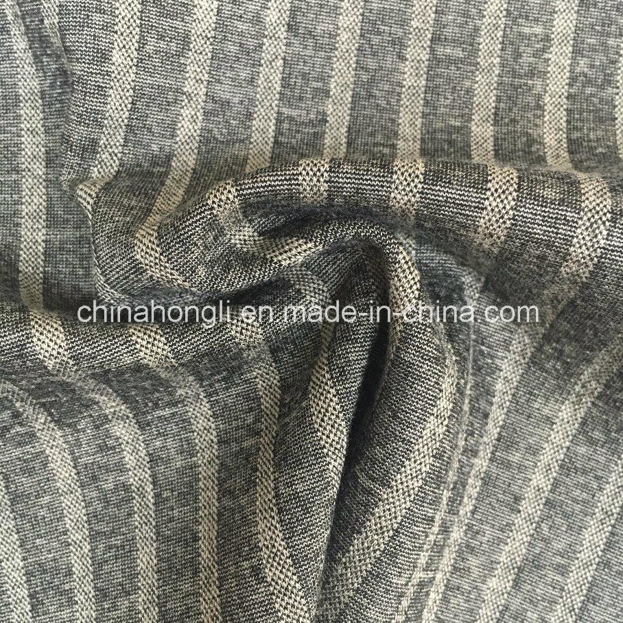China Ponte-Roma R/N/Sp 64/29/7 Stripe Interlock Knitting Fabric for ...