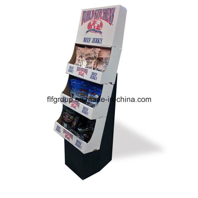 Customized Cmyk Printing Chain Store Cardboard Displays Pop Paper Stands