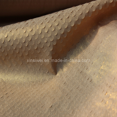 Crepe Chiffon Fabric with Punched and Stamping (SL12045)